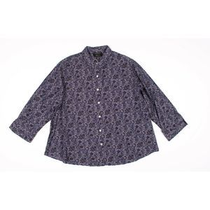 Foxcroft Shaped Fit Floral Button Down Dress Shirt